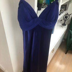 Purple silk Caché cocktail dress